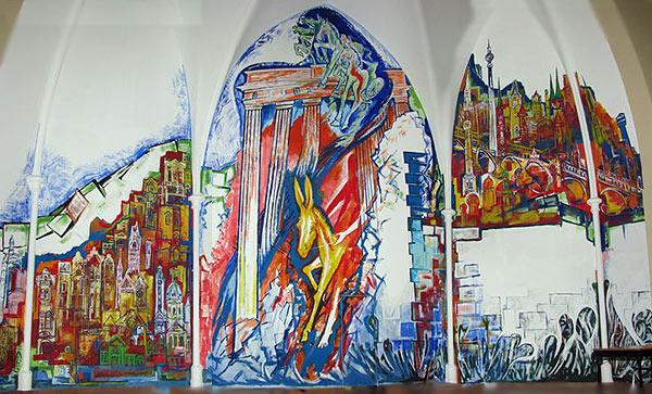 Wandgemäldes in der Friedenskirche, Berlin-Charlottenburg